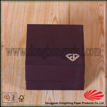 Logo design gift packaging brown jewelry box with jewelry tray