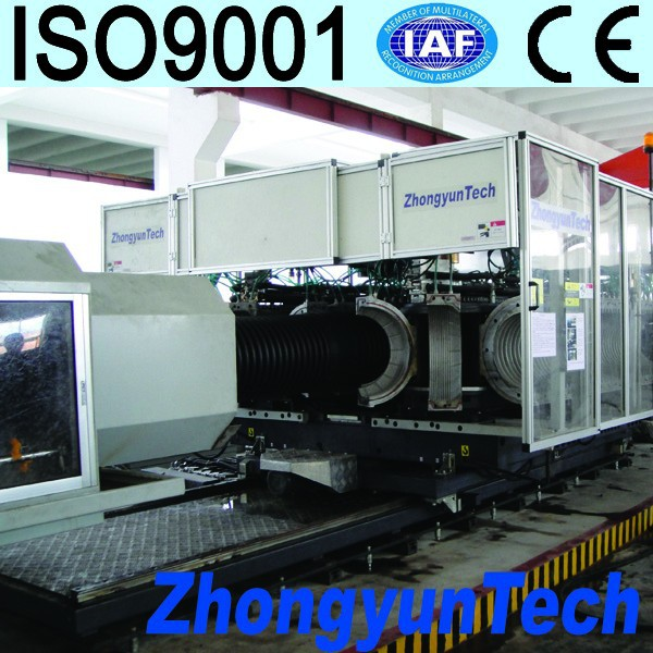 PE/PP/PVC double wall corrugated pipe manufacturing machine
