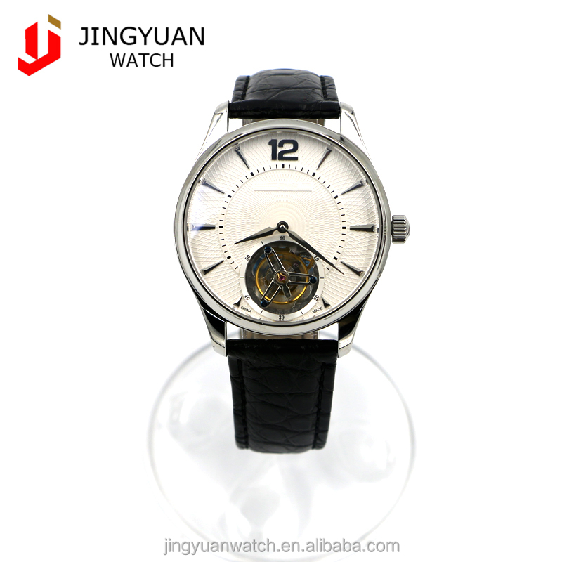 High-quality luxury stainless steel beautiful tourbillon mens expensively dressed wrist watch 55