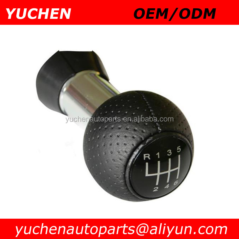 YUCHEN Car Shift Gear Knob Black/Red/Silver Caps 6 Speed For Audi A3 8L S3 2000-2003