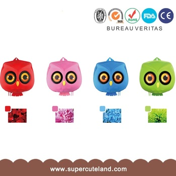 Guangdong pink PU owl backpack for girl