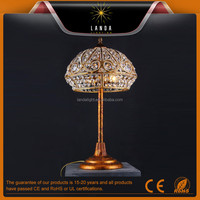 American style crystal table light