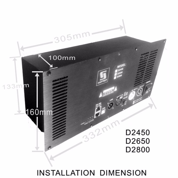 D2800 Bulit-in DSP 2 Channel Class D Speaker Module