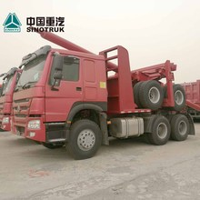 Heavy duty HOWO 6x4 10 wheeler log loader truck