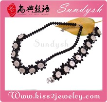 Party Jewelry Classics Black Rose Flower Necklace Bracelet