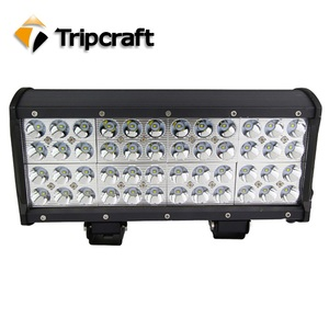 Factory direct quad row led off road light 144w led light bar 12240lm 12 inch with spot flood combo and 2 years warranty