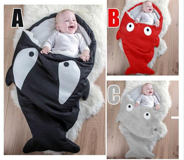 winter baby sleeping bag cartoon shark baby sleeping bag