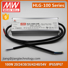 HLG-100H-24B Meanwell 24V 100W LED Driver Dimmable IP67 Waterproof floodlight lighting Driver