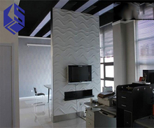 brick effect melamine surface decorative curved wall panel for wall covering panel