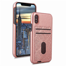Slim PU Leather Flower Embossed Design PC Hard Case for iPhone X