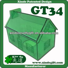 Large Plastic House shaped Piggy coin Bank , Saving Bank, Money Box - Coin bank