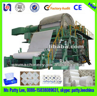 New condition cost of toilet paper machine raw material for tissue paper