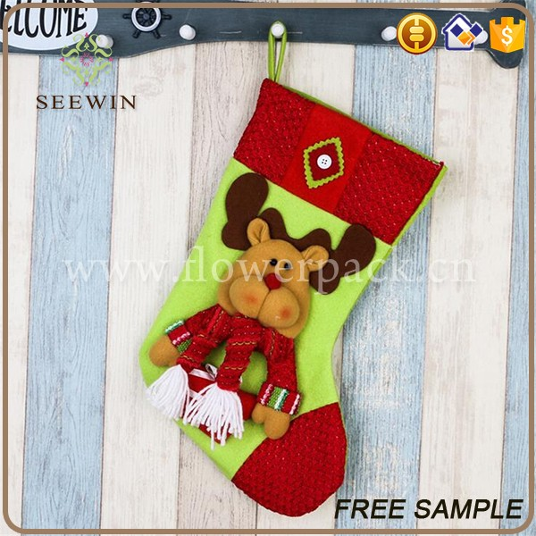 wholesale christmas product colorful ornament christmas sock