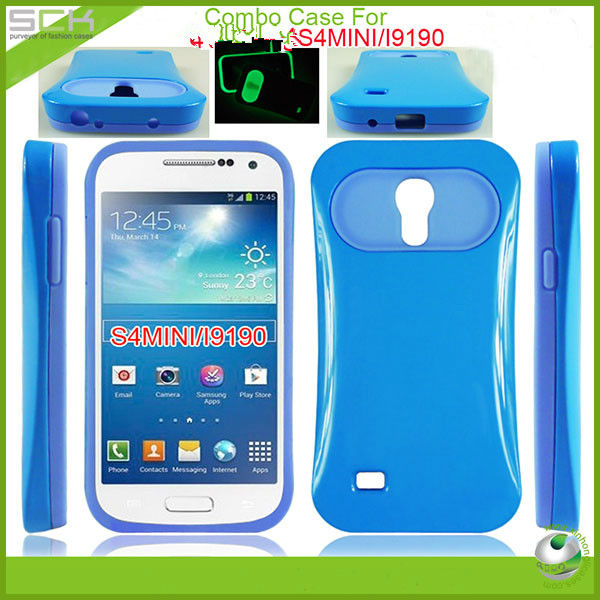 For Samsung galaxy s4 mini light up luminous case cover tpu+pc
