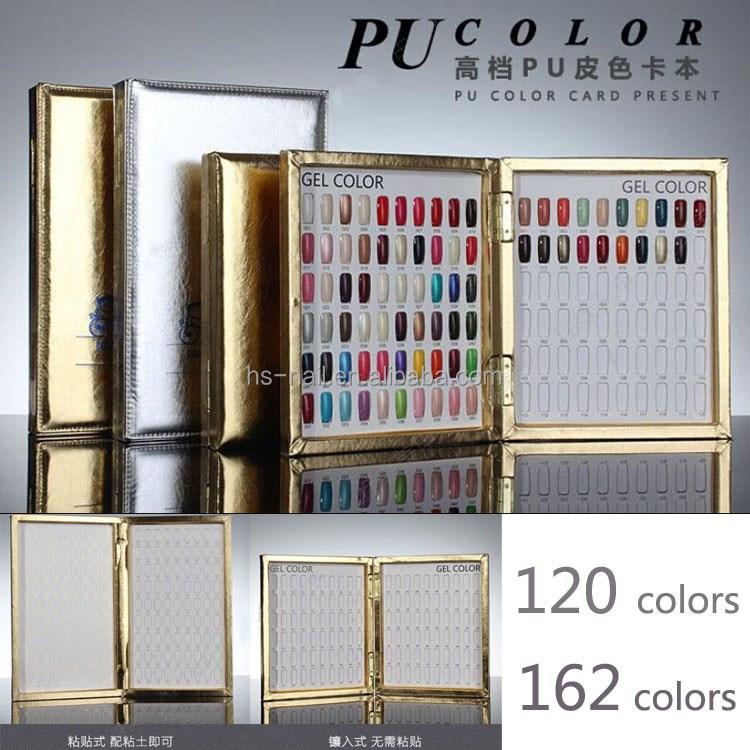 Pu Leather Designed With Nail Polish