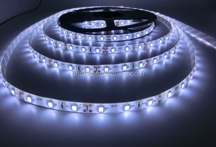 5m 16.4ft 12v flexible waterproof 60leds/m led strip 2835