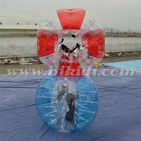 Hot sale cheap half color tpu human sized body inflatable bubble soccer ball for football D5086