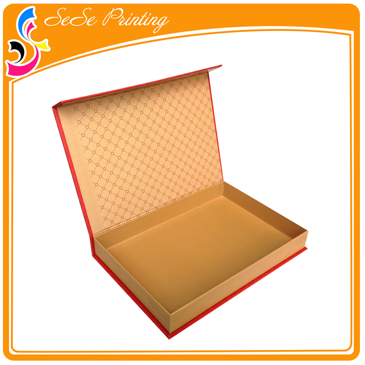 OEM Handmade t-shirt packaging boxes / flat pack deluxe gift boxes print