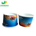 Hot sale bluer ice cream paper cups whit lid 2pe paper bowl