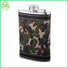 Factory price BPA free camouflage Hip Flask/classcial stainless steel hip flask for man