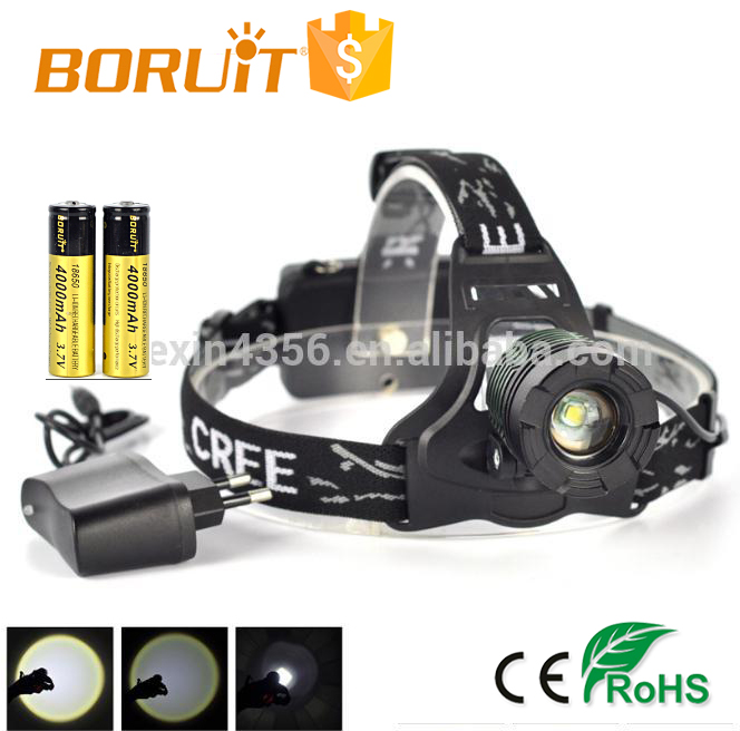 Promotion Aluminum CREE LED Rechargeable Headlamp