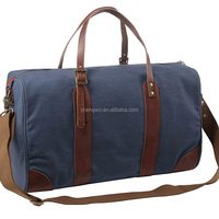 Iblue D001 Vintage Canvas Leather Trim