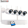 Sunivision 4CH 720P Wireless NVR 1.0MP Wifi IP Camera CCTV Security System +1TB HDD