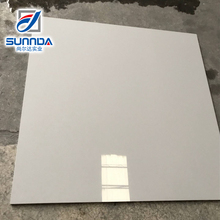 600x600 high-end shiny finish pure color gloss grey full body polished porcelain floor vitrified tiles for sale