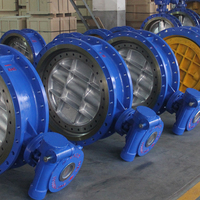 ANSI Double Eccentric Double Flange Gear Operated Butterfly Valve