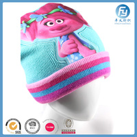 2017 Custom kids funny winter cartoon hat