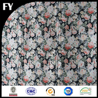 New design solid colored digital printing textile poly satin fabric in 2016