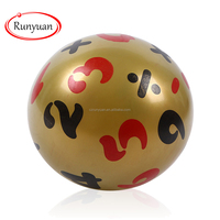 RUNYUAN Custom Mini InflatableToy Ball Mini Inflatable Ball for Child as Gift,Yellow Number Ball