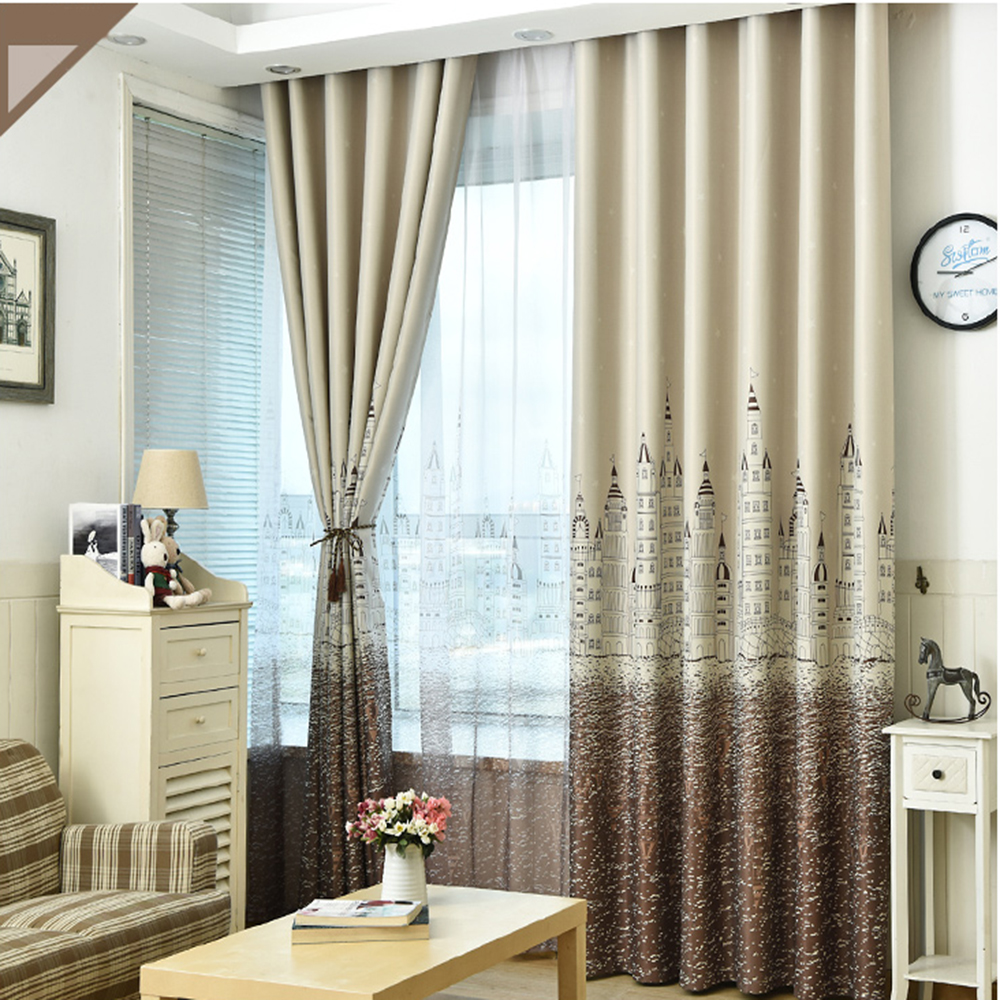 home textile New design romantic style curtain with latest pattern