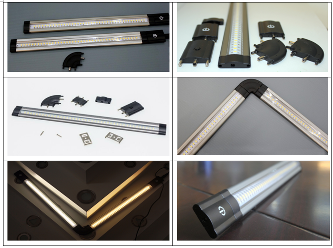 pressure sensor adjustable linkable LED rigid Strip light, led cabinet strip light