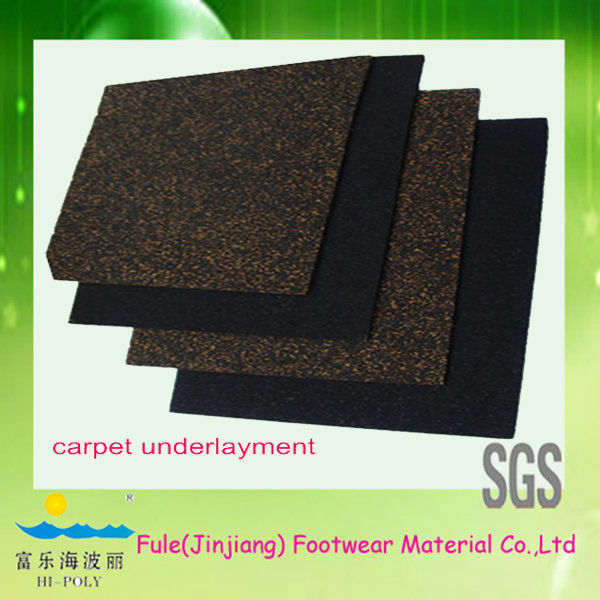 shock absorption rubber backed carpet mats