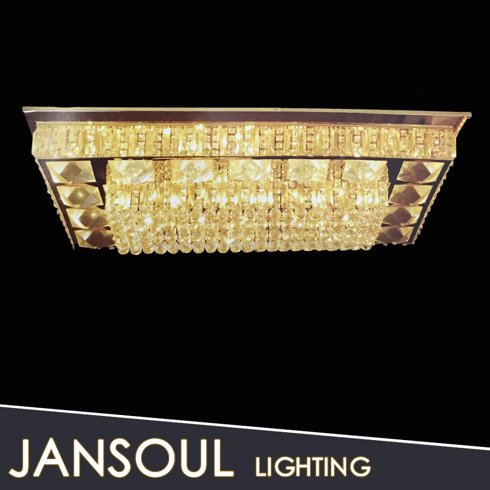 High quality crystal Rectangle cristal led ceiling panel light