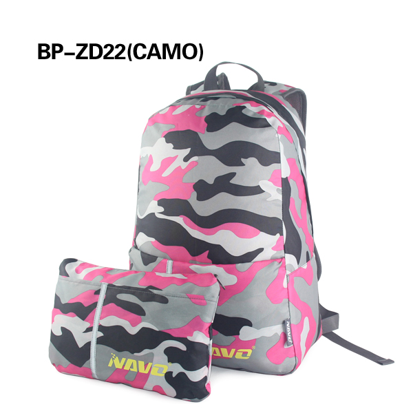 Big Size Polyester Backpack Foldable Camouflage Back Pack For <strong>School</strong>