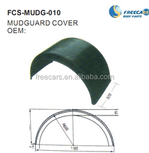 Universal plastic mudguard use for truck and trailer