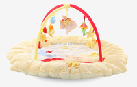 baby play mat with side/baby floor bed with hanging toys/custom baby play mat