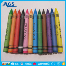 Factory price children school supplies wax crayon for drawing