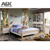 Factory price wooden furniture luxury kids bedroom set for girls