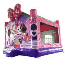 New year business retail attractive cartoons jumping house bouncer inflatable