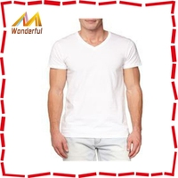 Men's short sleeve T-shirt New tide male pure color V collar short sleeves tight modal spring, summer, cultivate one's morality,