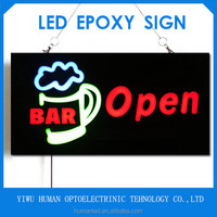 "LED Signage Companies Manufacture Resin Light ""BAR OPEN"" Sign For Shopping Mall Signaling Flashing Lighting"