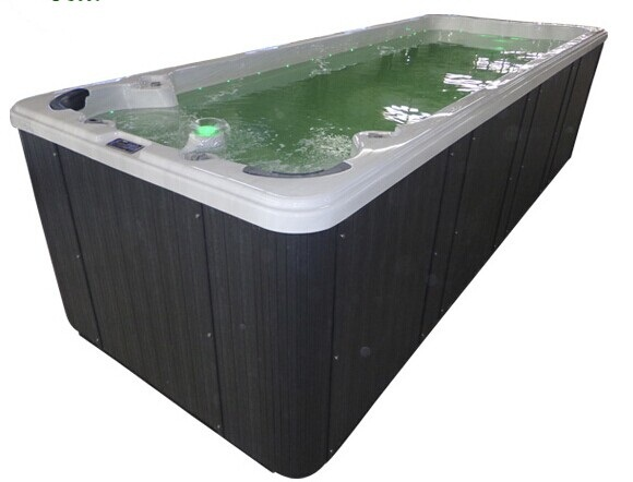 Factory OEM 6meter With massage Acrylic Outdoor freestanding Swim pool/swim spa