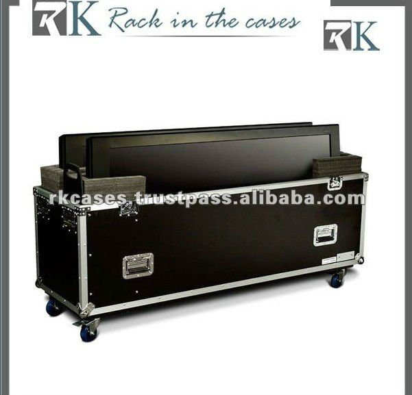 "Plasma TV Road Cases - Universal Dual 50"" Plasma Case with Caster Board"