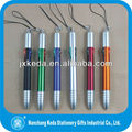 2014 plastic ball point touch pen with 4 in 1 refill ink color