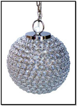 Modern decorative silver plated one light crystal Pendant light