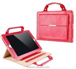 Korea Style Leather Case Cover for ipad5 6 air2 Handbag mini1/2/3 Protective Cover Bag for ipad4/3/2 air Mini Leather handbag