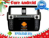 TOYOTA PRADO 2014 pure android 4.2 car dvd player , RDS,Telephone book,AUX IN,GPS,WIFI,3G,Built-in WIFI Dongle